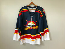 2013 Peoria Rivermen Authentic Minor League Hockey Jersey Embroidered SPHL sz M