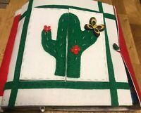Quiet book libro tattile educativo Montessori in stoffa feltro/pannolenci Cactus