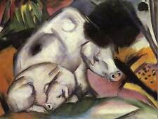 FRANZ MARC PIGS OLD MASTER ART PAINTING PRINT POSTER REPRODUCTION 920OM