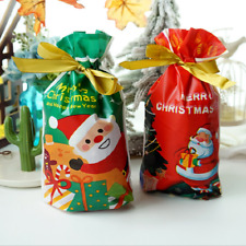 Christmas Drawstring Bags Party Favour Cookie Sweet Candy XMAS Gift Stocking Bag