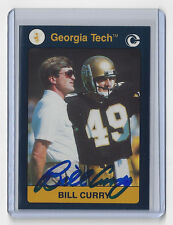 GEORGIA TECH Bill Curry signed card 1991 Yellow Jackets AUTO Packers AUTOGRAPHED
