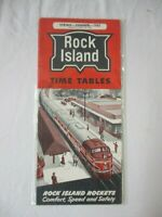 Spring Summer 1962 Rock Island Time Tables Rock Island Rockets