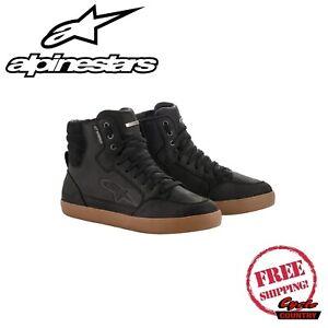 Alpinestars J-6 Motorbike Motorcycle Waterproof Riding size 9 Shoes Black / Gum