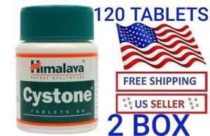 2 PACK 120 TABLETS HIMALAYA CYSTONE OFFICIAL WITH DOCUMENTS REMOVE KIDNEY STONES