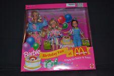 """1993 Barbie Birthday Fun At McDonalds Stacie Todd Barbie doll Mattel Mib """"New"""""""