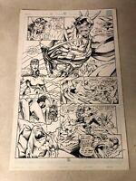 EX-MUTANTS #13 original art WILD BATTLE PAGE 1993 BONE GENESIS MALIBU