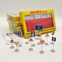 Atlas Dinky Toys 593 12 PANNEAUX DE SIGNALISATION ROUTIERE Models Lot Of 5Pcs