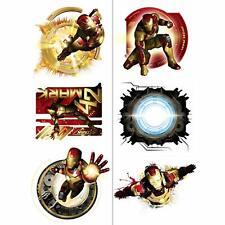 Iron Man 3 Avengers Marvel Superhero Birthday Party Favor Temporary Tattoos