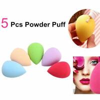 5Pcs Soft Beauty Foundation Blending Makeup Sponge Blender Flawless Buffer Puff