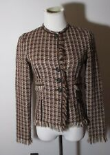 Women's ADEC Brown Wool Blend Button Jacket Size 2/36