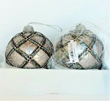 """NEW FRONTGATE GLITTER ICICLE ORNAMENTS SET OF 11 ACRYLIC 7/"""" EACH WHITE"""