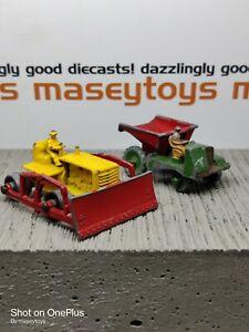 Matchbox Lesney Pair Caterpillar Crawler Muir Hill Dump Original Vintage Diecast