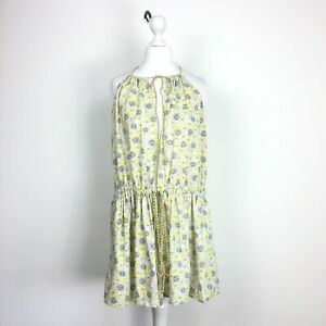 Athe Vanessa Bruno Open Front Beach Cover Up Dress Yellow Floral Watercolour 38
