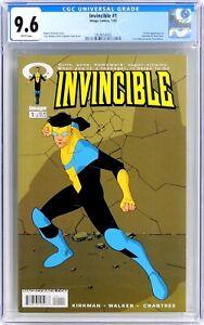 S260. INVINCIBLE #1 Image CGC 9.6 NM+ (2003) 1st App. of INVINCIBLE & OMNI-MAN