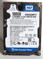 """Western Digital Scorpio Blue WD5000BPVT 500GB SATA 3.0Gb/s 2.5"""" Hard Drive Disk"""