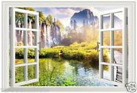 Wandtattoo Wandaufkleber Bilder Fenster Landschaft Wohnzimmer Schlafzimmer Küche