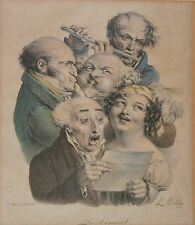 LOUIS BOILLY-18th/19th C. French Artist-Hand Signed LIM.ED Color Litho-Concert