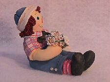 """New Raggedy Ann & Andy """"Be Mine"""" Raggedy Andy with Daisy Bouquet New"""