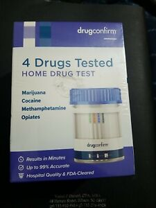 Drugconfirm 4 Drugs Tested - Home Drug Test 99% Accurate-Marjuana Cocaine Opiate