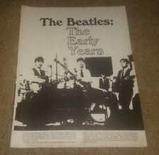 The Beatles The Early Years Tribute Magazine book 1980 John Lennon Paul Ringo