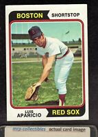 1974 Topps #61 Luis Aparicio Boston Red Sox White Sox HOF Baseball Card EX/MT+