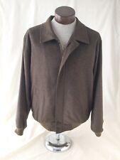 Pierluigi Della Spina Italy Blouson Zip Jacket Cashmere Wool Dark Brown X-Large