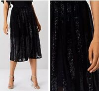 BNWT🌹Coast🌹Size 6 Joey Panelled Sequin Navy Occasion Party Races Wedding Skirt