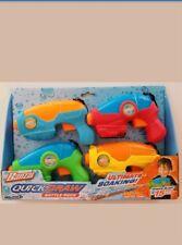 Water Soakers Banzai Quick Draw Blast Battle Pack NIB 4 Water Blasters 3+ Years