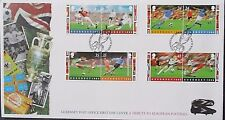 Guernsey 1996 European Football Set on First Day Cover.