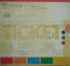 TICKET UEFA CUP 2001/02 FIORENTINA-Tirol Innsbruck