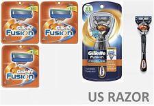 *13 FLEX BALL Gillette FUSION Razor Blades Cartridge Refills Shaver fit Proglide