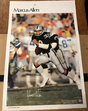 """1984 MARCUS ALLEN SI Sports Illustrated Poster Oakland Raiders 35"""" X 23"""" (K1)"""