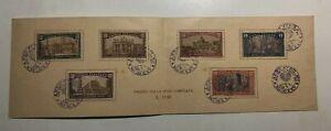 1925 Regno Folder Libretto Francobolli Serie Anno Santo del 1924 Annullati