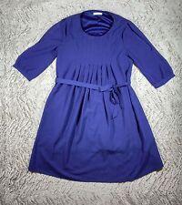TULLE Brand Purple-Blue Semi-Sheer Short Lined Dress Shoulder Cutouts, Sz S
