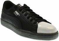 Puma Basket Patent Sneakers - Black - Mens