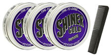 SHINER GOLD 4 Oz Psycho Strong Hold Pomade greaser 3 Pack Free Comb NEW