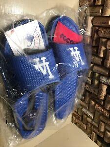 LA Dodgers slide sandals FOCO Genuine MLB Merchandise, Men's 11-12flip flops