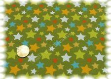 Stars Allover Stretch-Jersey khaki grün Hilco Shirtstoff 50 cm Baumwolljersey