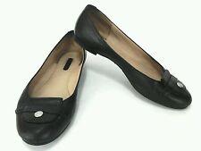 LONGCHAMP Le Pliage Cuir Ballet Ballerina Flats Black Womens EU 38/ 7 US $275