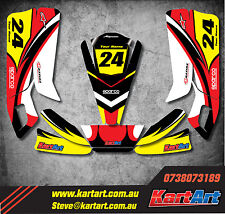 Arrow AX9 junior go kart  full custom KART ART sticker kit NERO STYLE decals