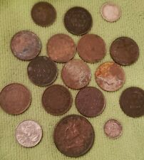 Canada Coin Lot: 1859 Large Cent, 1854 Bank Token, Silver Coins -LARGE CENT LOT-