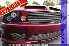 GTG 2005 - 2009 Saleen Ford Mustang 1PC Polished Upper Replacement Billet Grille