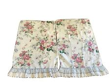 Vintage Waverly Belle Rive Standard Pillowcases Ruffled Shabby Cottage Chic Rose
