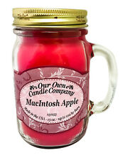 MacIntosh Apple Scented Candle in 13 oz Mason Jar by Our Own Candle Company