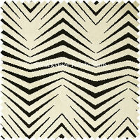 10 Metres Of New Design Chevron Stripe Black Cream Soft Velvet Upholstery Fabric