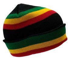 Black Rasta Skully Beanies Hat Beret Tam Jamaica Skull Knitting Cap Beanie Kufi