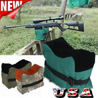 Shooting Range Sand Bag Set Rifle Gun Bench Rest Stand Front & Rear Bag Large US