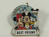 Disney Pin Best Friend Mickey Minnie Donald Pinback Lapel