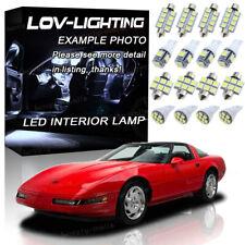 For 1993-1996 Chevrolet Corvette C4 White Interior LED Lights Package Kit 25pcs