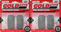 GOLDFREN FRONT BRAKE PADS (2x Sets) for: HONDA CBR900 RRV FIREBLADE 1997 FA187HH